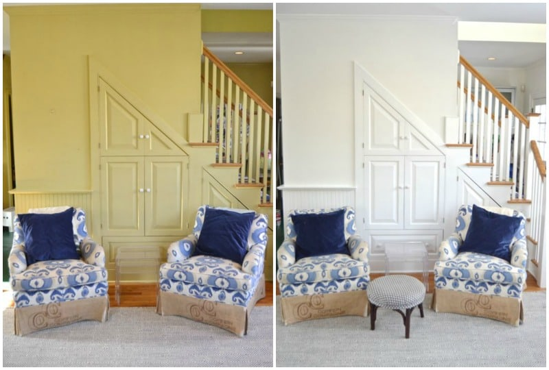 Paint behind family room chairs