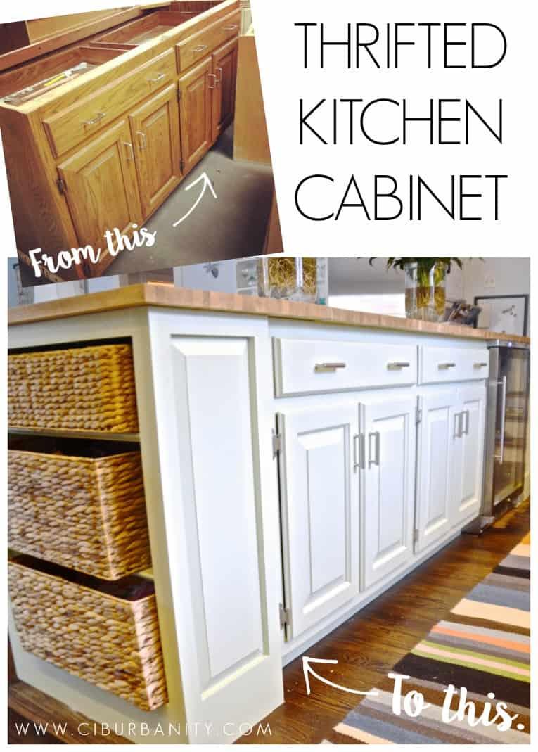 Thrifted Kitchen Cabinet