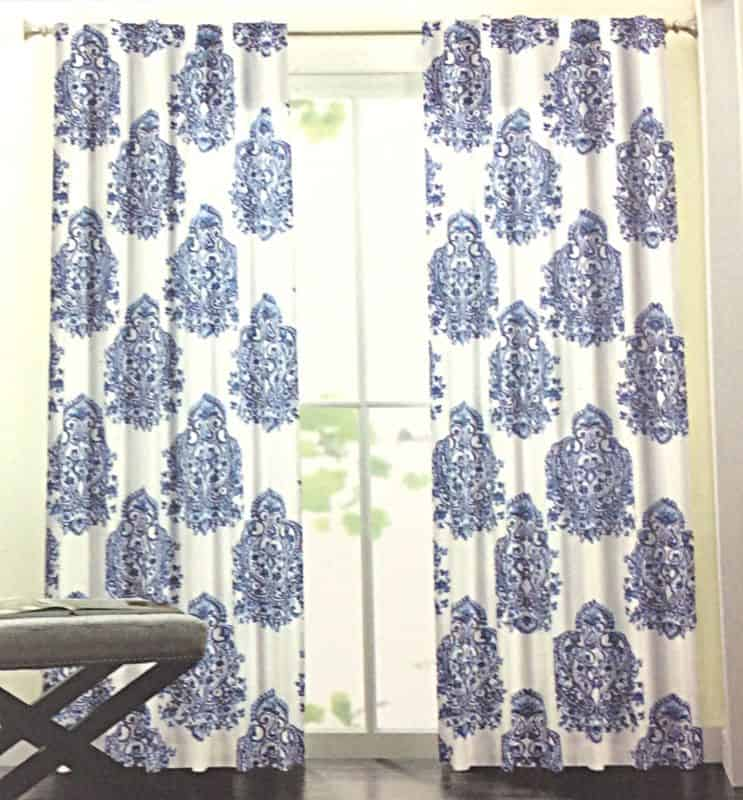 amazon blue white curtains