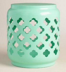 aqua cut out stool