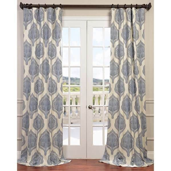 blue white curtains overstock