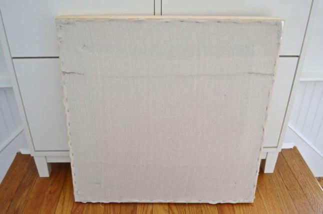 canvas stapled on frame