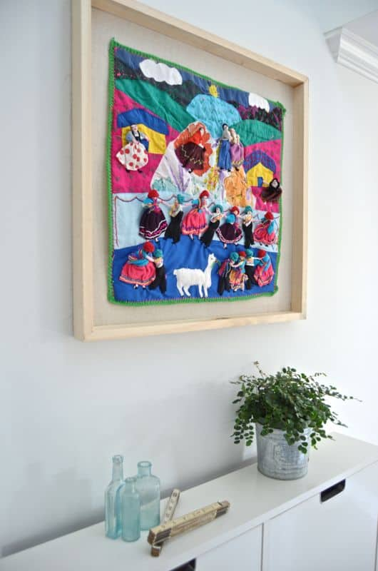 colorful framed fabric