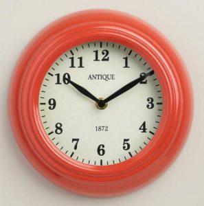 coral colored clock