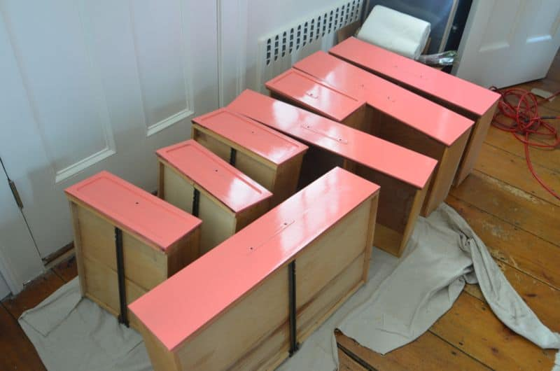 dresser drawers coral