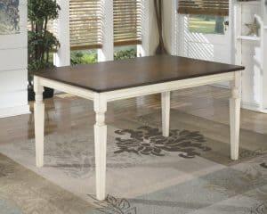 farmhouse table white legs