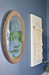 mirror with macrame art