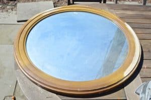 mirror with sanded frame