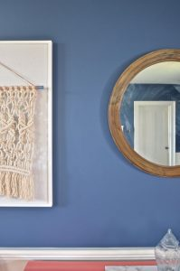 nautical mirror in dining room