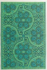 teal outdoor rug