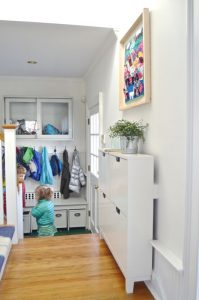 view of mudroom with shadow frame