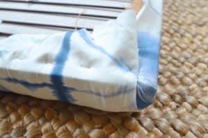 Corner fabric detail