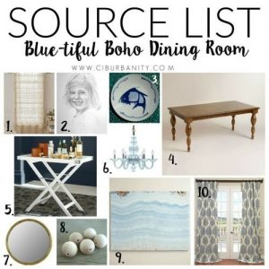 Dining room source list excerpt