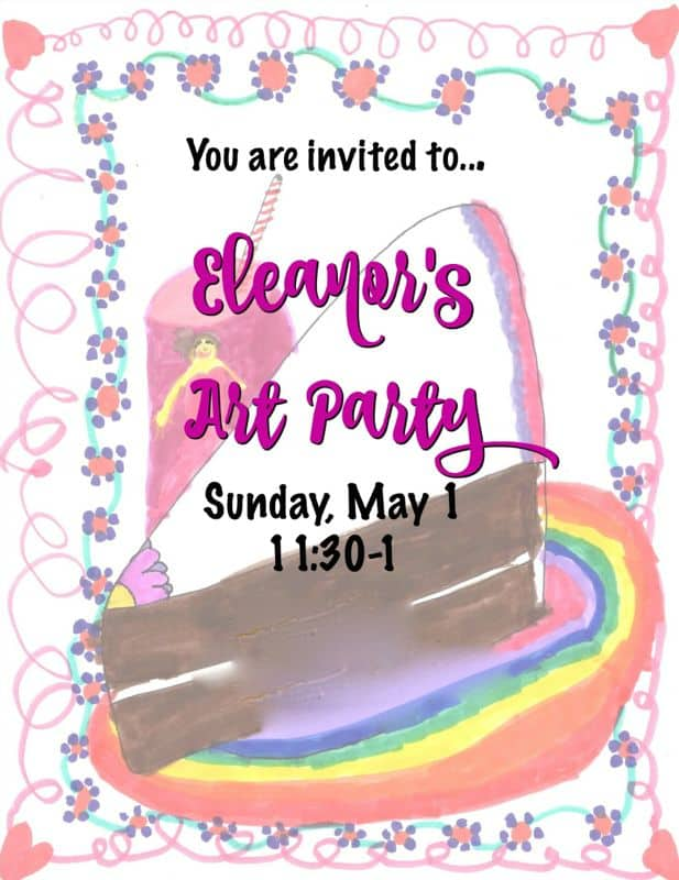 Fun arts and crafts birthday party with colorful decorations.