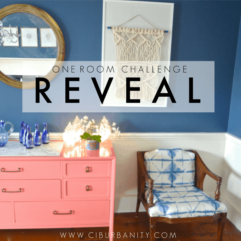 One Room Challenge REVEAL: Repurposed Eclectic Dining Room