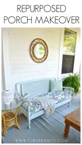 Repurposed Porch Makeover