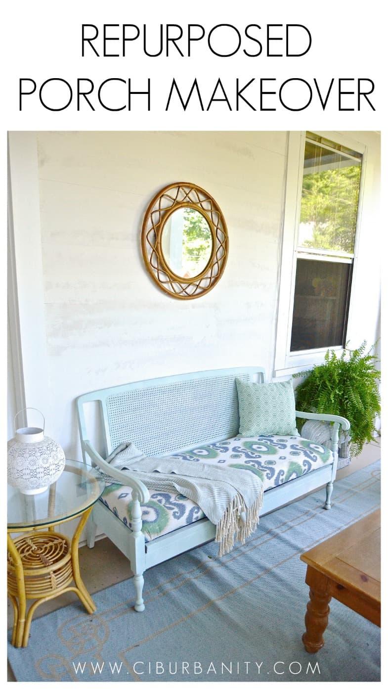 Repurposed Porch Makeover