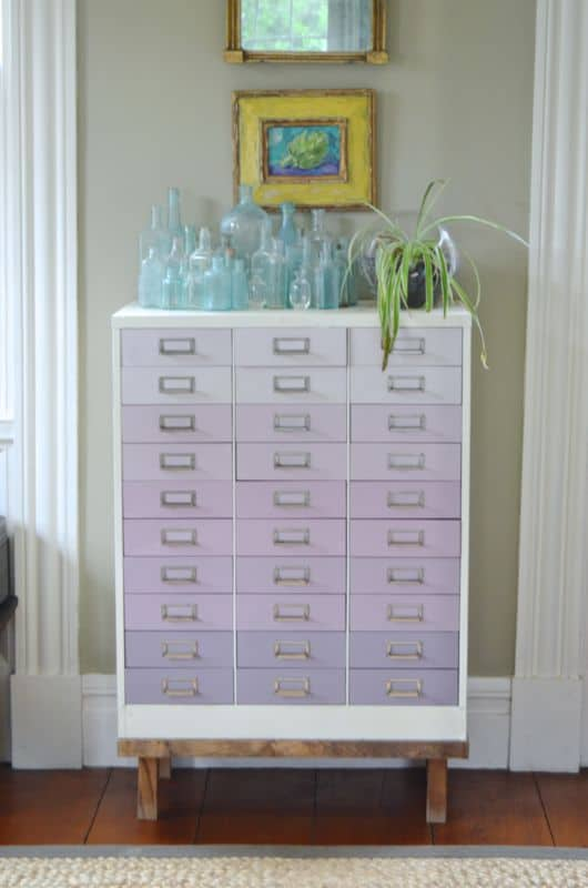 Thrifty Style: Ombre File Cabinet Makeover