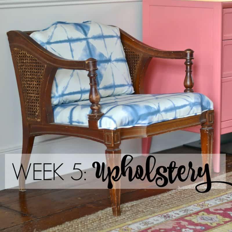 WEEK 5- Upholstery