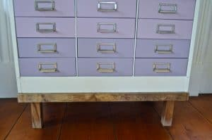 base of ombre file cabinet