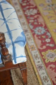 chair fabric with rug