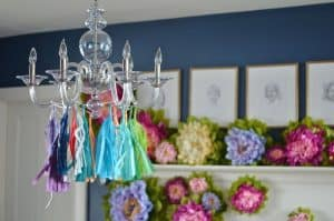 chandelier with tassels