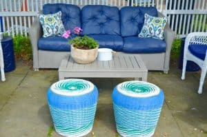 coffee table and patio seating