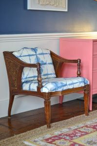 finished upholstered side chair