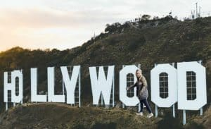 hollywood sign with CMS