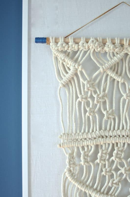 macrame wall hanging detail