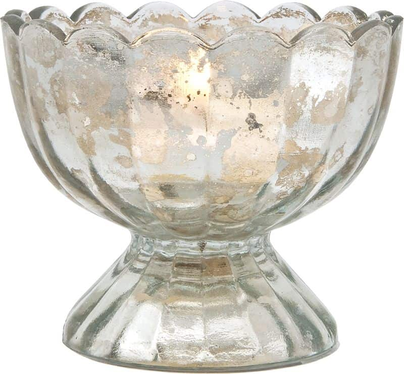 mercury glass bowl