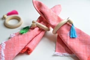 Quick and easy one minute napkin ring