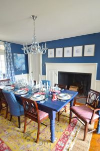 navy dining room table