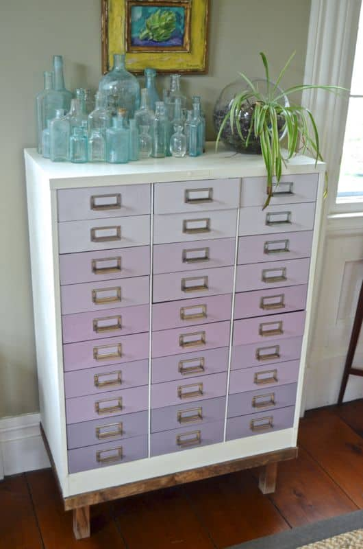ombre file cabinet side