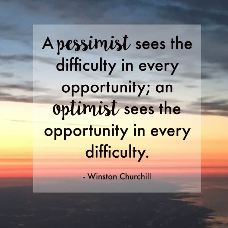optimism quote by winston churchill