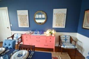 sideboard wall dining room