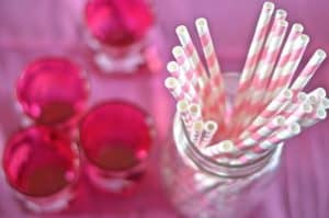 straws and votives