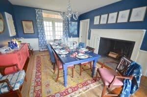 wide shot of dining room