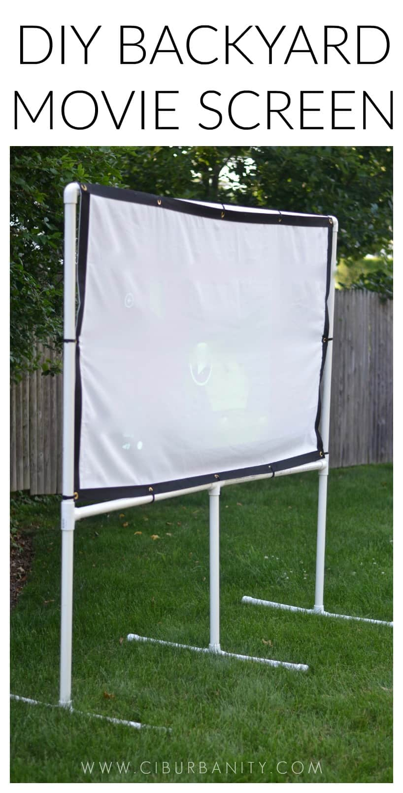 Diy Backyard Movie Screen At Charlotte S House