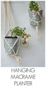 Simple macrame plant holders. Ten minutes and under $5.