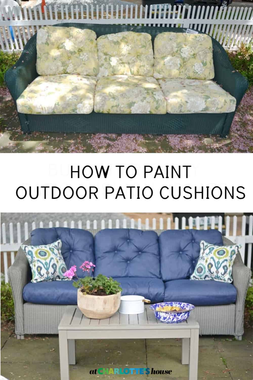 How To Paint Patio Cushions At Charlotte S House