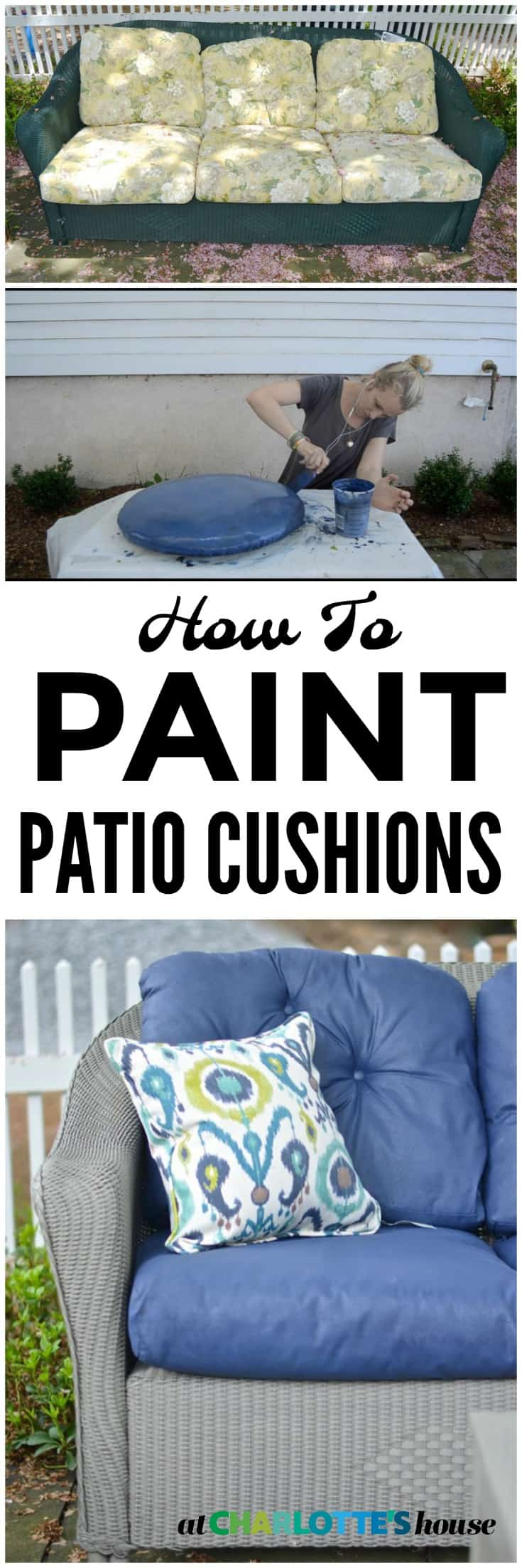 I saved so much money painting these dated floral cushions!