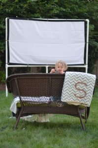 PVC pip outdoor movie screen