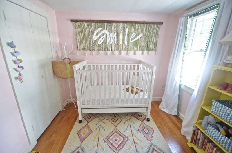 guest room nursery with crib