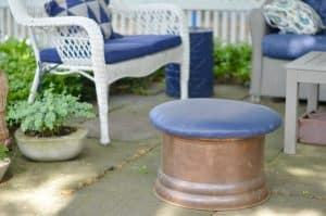 How to makeover patio cushions by painting them with regular ol' latex paint.