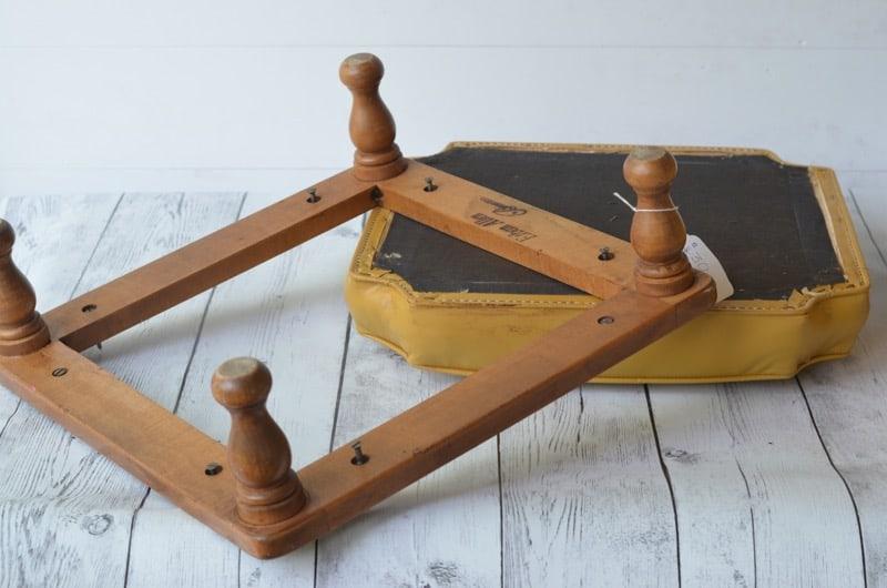 Updated vinyl flea market stools for less than five dollars.