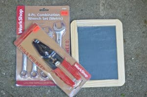tools for chalkboard frame
