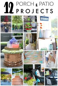 12 awesome porch and patio DIY projects.