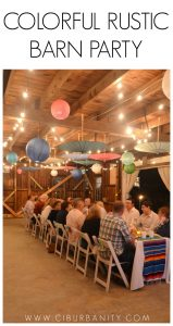 Colorful Rustic Barn Party
