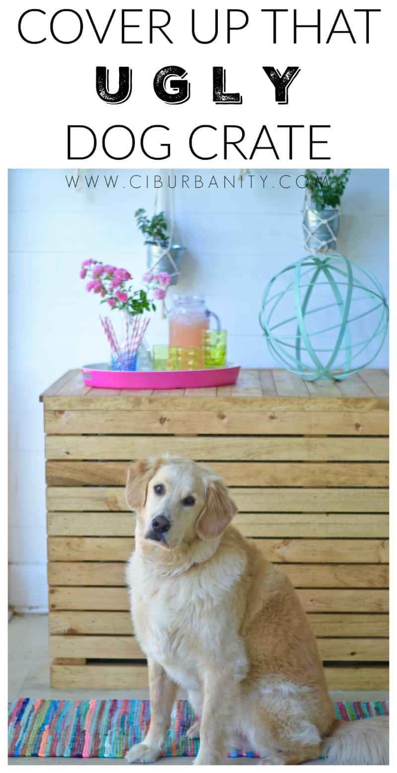How to conceal an ugly wire dog crate